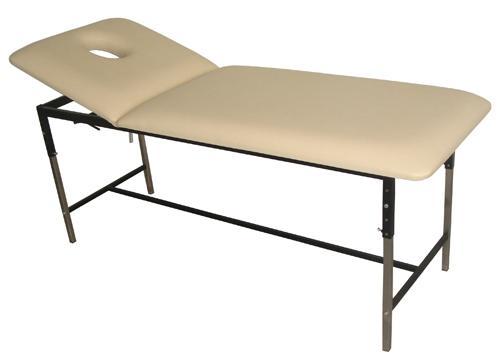 Canapea masaj cu picioare din inox, regalbila pe inaltime, cadru metalic
