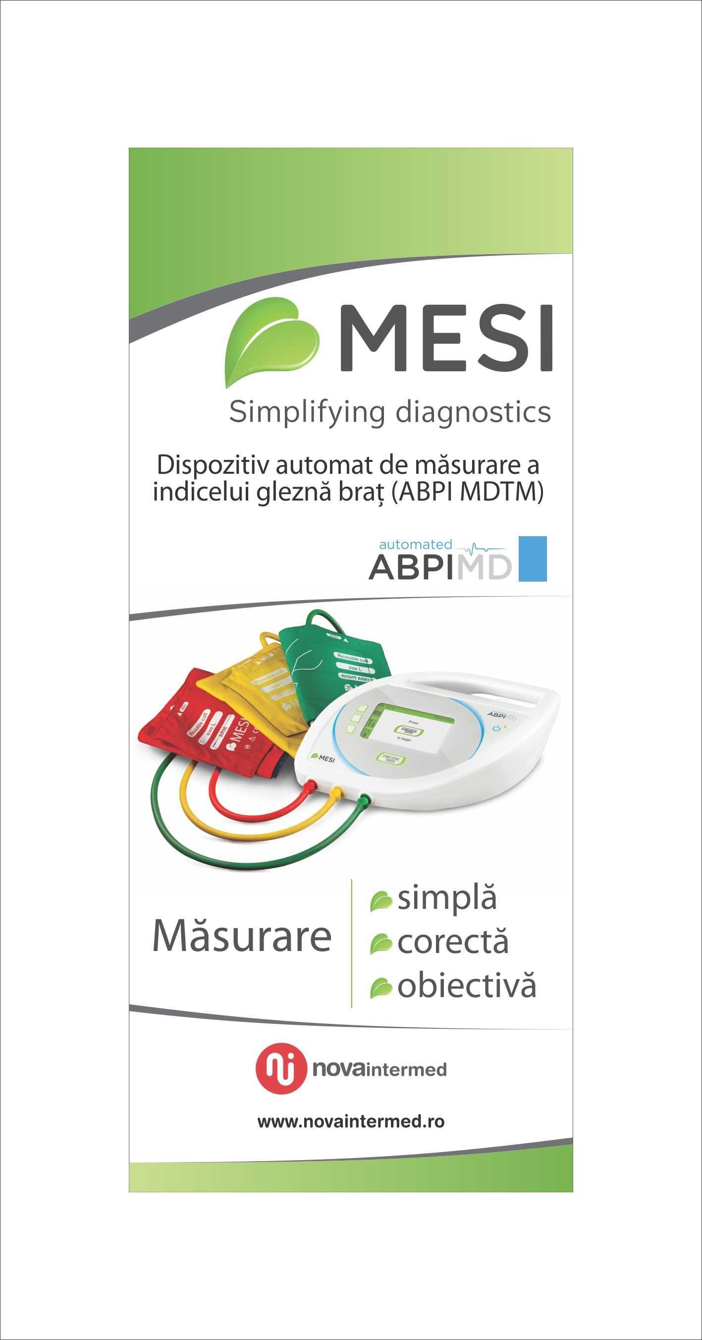 Dispozitiv automat de masurare a indicelui glezna-brat (ABPI MESI)