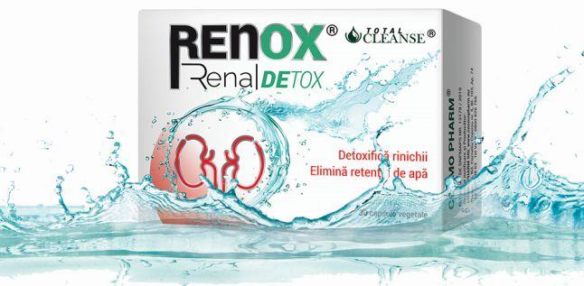 Cosmo Pharm LANSEAZA produsul RENOX RENAL DETOX: Detoxifica rinichii, elimina retentia de apa