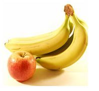 Merele si bananele in alimentatia copiilor