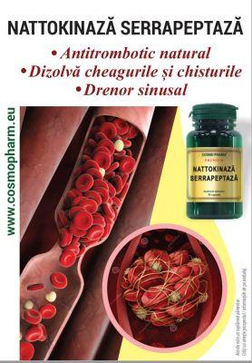 COSMO PHARM® promoveaza NATTOKINAZA SERRAPEPTAZA