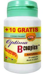 Contine 19 vitamine B: Optima B Complex Complete & Balanced Formula 100% DZR