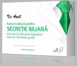 Treci cu bine peste mesele bogate de sarbatori cu Dr. Hart Extract natural pentru SECRETIE BILIARA