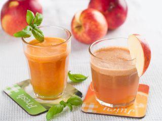 Suc de mere, morcovi si piersici