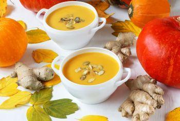 Supa crema de morcovi si dovleac cu ghimbir