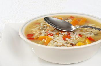 Supa de legume cu orez brun