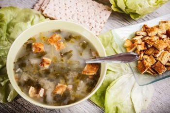 Supa rece de salata verde