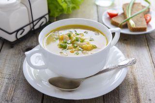 Supa din carne de vita cu spanac