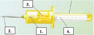 Probele de sange sunt recoltate cu sistemul holder-vacutainer.